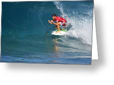 Pipeline Masters Champion Greeting Card by Kevin Smith