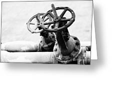 Pipeline Valves Greeting Card