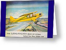 Piper Airplane  Greeting Card