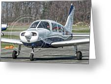 Piper Pa28 I-cnpg Taxiing To The Runway Greeting Card