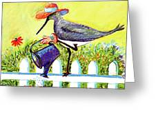 Piper With Water Can Greeting Card
