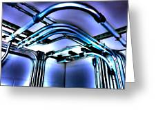 Pipes In Third Dimension Greeting Card
