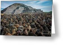 Piramide De La Luna Greeting Card