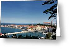 Piran Slovenia Gulf Of Trieste On The Adriatic Sea From The Punt Greeting Card