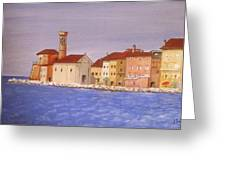 Piran The Lighthouse Greeting Card