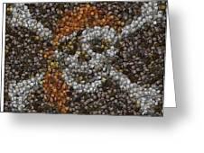 Pirate Coins Mosaic Greeting Card