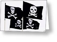 Pirate Flags Greeting Card by David Lee Thompson