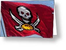 Pirate Football Greeting Card
