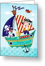 Pirate Of The Carribean Greeting Card