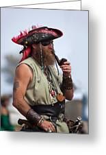 Pirate Peanut Island Florida Greeting Card