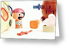 Pirate Play Greeting Card