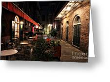 Pirates Alley At Night Greeting Card
