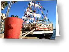 Pirates In Harbor Greeting Card