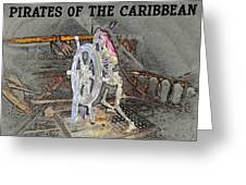Pirates Skeleton Greeting Card by David Lee Thompson