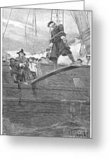 Pirates: Walking The Plank Greeting Card by Granger