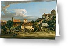 Pirna. The Obertor From The South Greeting Card
