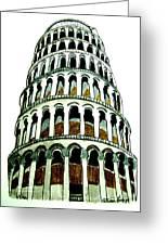 Pisa Erected Greeting Card