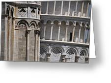 Pisa Leaning Tower 4637 Greeting Card