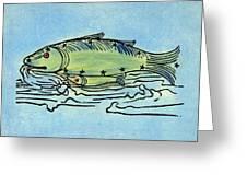 Piscis Australis, 1482 Greeting Card
