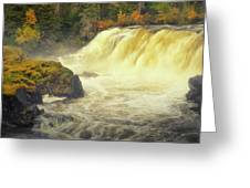 Pisew Falls Greeting Card by Stuart Deacon
