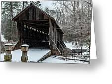 Pisgah Covered Bridge - Modern Greeting Card