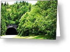 Pisgah Tunnel Greeting Card
