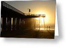 Pismo Beach Pier California 8 Greeting Card