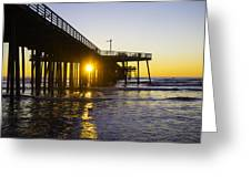 Pismo Beach Pier  Greeting Card