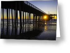 Pismo Sunset Wharf Greeting Card
