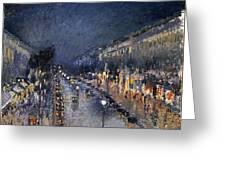 Pissarro: Paris At Night Greeting Card