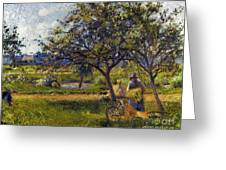 Pissarro: Wheelbarr., 1881 Greeting Card