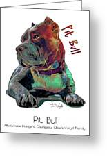 Pit Bull Pop Art Greeting Card