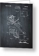 Pitch Fork Fiddle And Drum Patent 1936 - Chalk Greeting Card