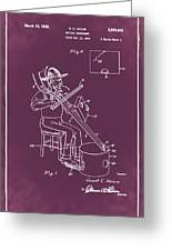 Pitch Fork Fiddle And Drum Patent 1936 - Red Greeting Card