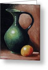 Pitcher And Orange Greeting Card