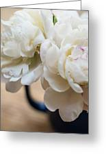 Pitcher Of Peonies Greeting Card