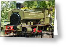 Pittencrieff Park Engine Greeting Card
