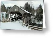 Pittsburg-clarksville Covered Bridge Greeting Card