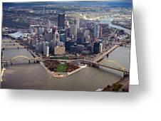 Pittsburgh 8 In Color  Greeting Card by Emmanuel Panagiotakis