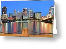 Pittsburgh At Waters Edge Greeting Card