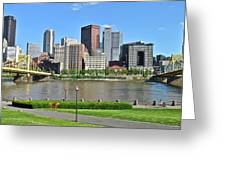 Pittsburgh From Just Outside Pnc Park Greeting Card