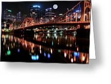 Pittsburgh Full Moon Greeting Card