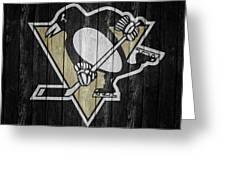 Pittsburgh Penguins Barn Door Greeting Card