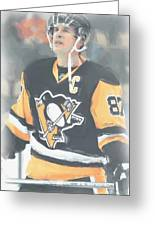 Pittsburgh Penguins Sidney Crosby 3 Greeting Card