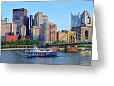 Pittsburgh River Cruise  Greeting Card
