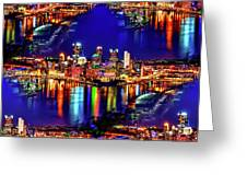 Pittsburgh Skyline Art Greeting Card