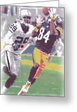 Pittsburgh Steelers Antonio Brown 1 Greeting Card