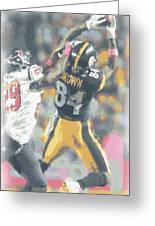 Pittsburgh Steelers Antonio Brown 2 Greeting Card