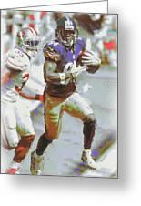 Pittsburgh Steelers Antonio Brown 3 Greeting Card