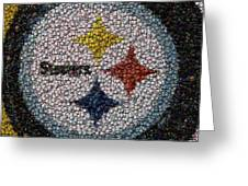 Pittsburgh Steelers  Bottle Cap Mosaic Greeting Card